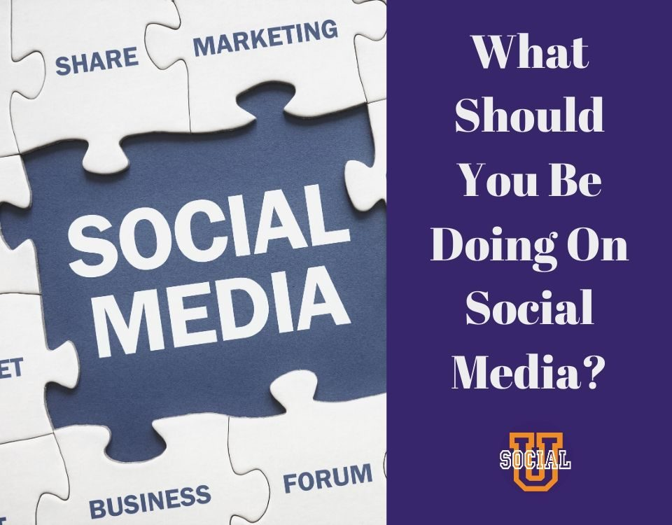 What should you be doing on social media?