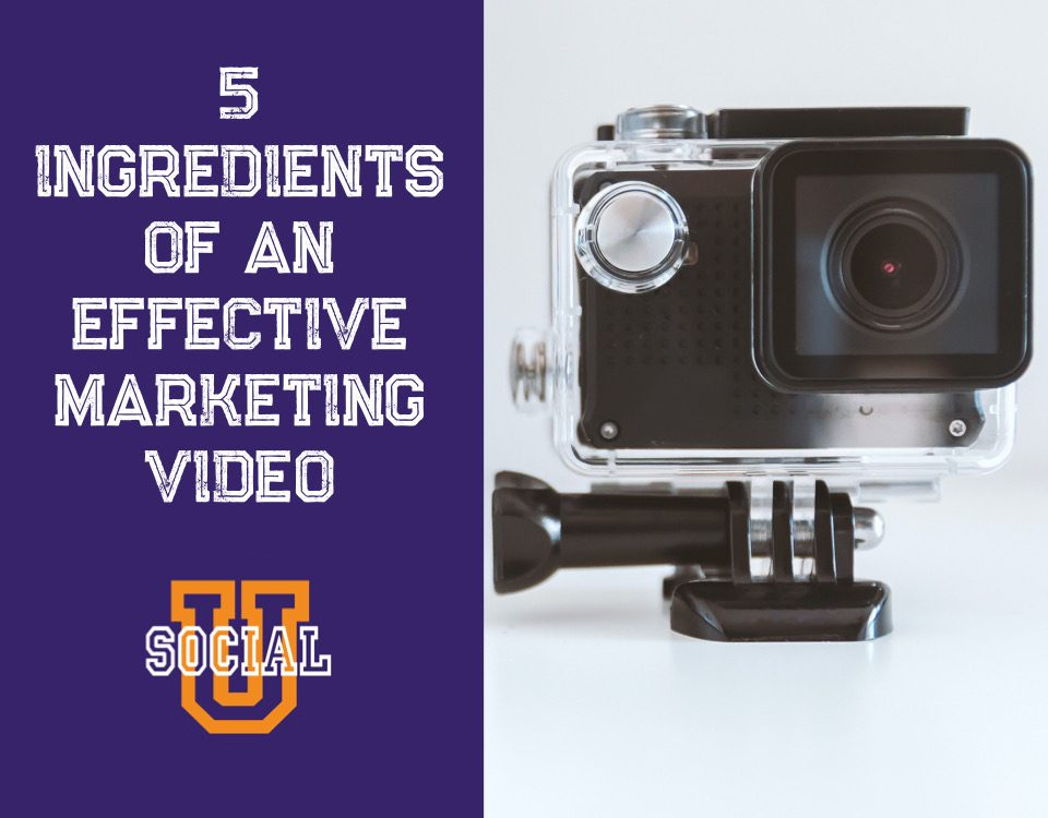 The 5 Ingredients of an Effective Marketing Video